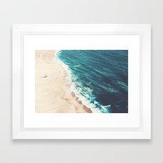 Beach Nazare Framed Art Print