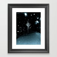 WHITEOUT : Wintree Framed Art Print