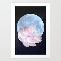 Talking to the Moon Art Print