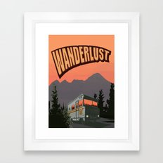 Wanderlust Travel Poster Framed Art Print