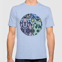 Bikes Mens Fitted Tee Athletic Blue SMALL
