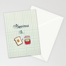 Happiness Is Toast & Jam Stationery Cards