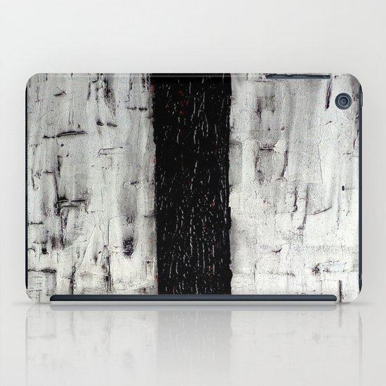 Dark Path - Black and white abstract iPad Case