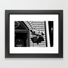 Crash Imminent Framed Art Print