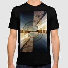 Landscapes c10 (35mm Double Exposure) SMALL Black Mens Fitted Tee