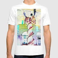 Twisted Mens Fitted Tee White SMALL