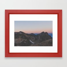 Sunrise Mountain Framed Art Print