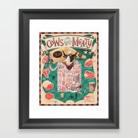 'Cows Are REALLY Meaty!' Framed Art Print