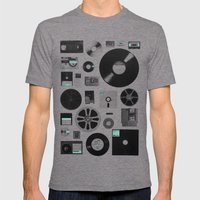Data Mens Fitted Tee Tri-Grey SMALL