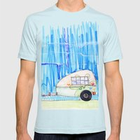 Landscape Mens Fitted Tee Light Blue SMALL
