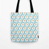 Flamingo and Leaves Tote Bag