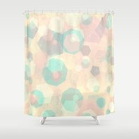 Pastel Geometric Pattern No 1  Shower Curtain