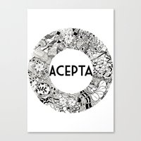 Acepta Canvas Print