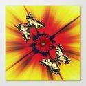 3 D Butterflies Canvas Print