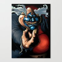 Get Down With The Clown Canvas Print