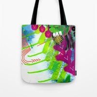 Wave pink Tote Bag