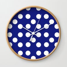 Dots - Blue / White Wall Clock