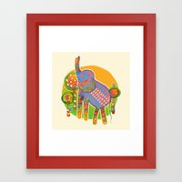The Quilted Jungle Framed Art Print