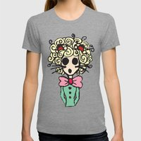 Ms Meow Womens Fitted Tee Tri-Grey SMALL