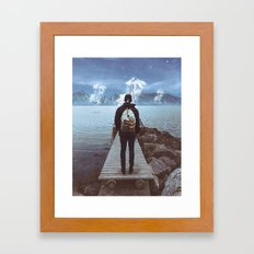 Apparition At The Pier Framed Art Print