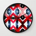 Poster noise muffled edges. Wall Clock