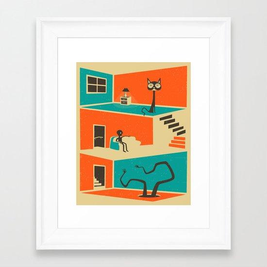 The Stranger in the Basement Framed Art Print