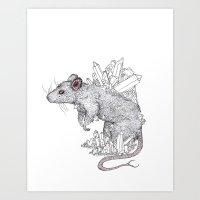 rose Art Prints featuring Rose by X V I I I