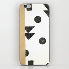 Black and white shapes iPhone & iPod Skin