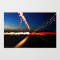 City Light Storm Canvas Print