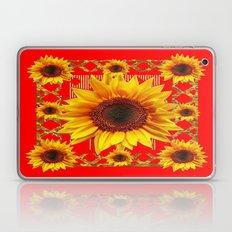 Vibrant Red & Gold Yello… Laptop & iPad Skin