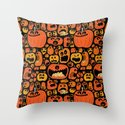 Pumpkin Pattern Throw Pillow