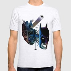 destructured hero#1 Mens Fitted Tee Ash Grey SMALL