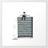 LITTLE DREAMS, BIG BOOKCASE Art Print