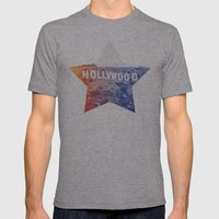 Hollywood Mens Fitted Tee Athletic Grey SMALL