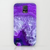 Galaxy S5 Cases featuring purple stone by haroulita