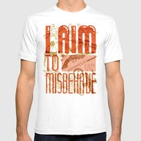 I Aim To Misbehave  Mens Fitted Tee White SMALL
