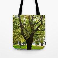 Autumn sun shines Tote Bag