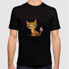 The Great Gold Meow Mens Fitted Tee Black SMALL