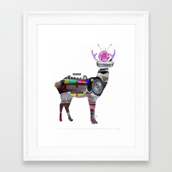Deer Mix 3 Framed Art Print