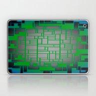 Teal Green Art Deco Patt… Laptop & iPad Skin