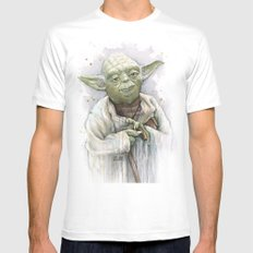 Yoda  Mens Fitted Tee SMALL White