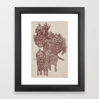 Take-out Dragons (Lions?… Framed Art Print