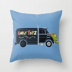 The Happy Toyz Van Throw Pillow