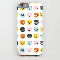 iPhone & iPod Case featuring Moody cats  by Tove Andersson