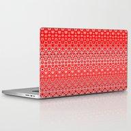 Mosaic Red Laptop & iPad Skin