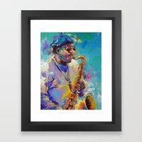 Soulful Charles Framed Art Print