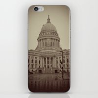 Madison Wisconsin Capital Building Architecture Sepia Photography iPhone & iPod Skin