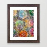Abstract Floral Circles 4 Framed Art Print