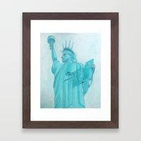 BROOKLYN LIBERTY Framed Art Print