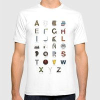 Alfabeto Malagueño © Mens Fitted Tee White SMALL